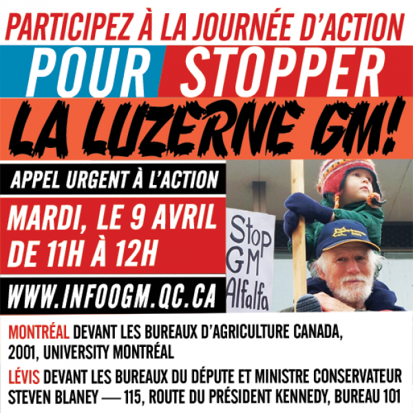9 Avril : Jour d'action contre la Luzerne OGM